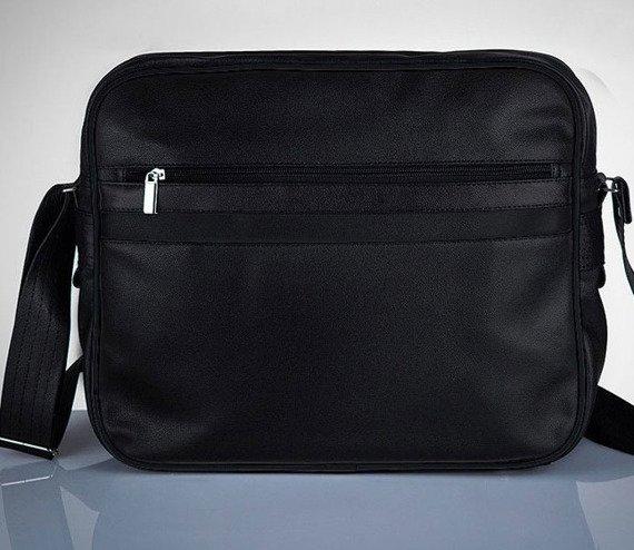 Stylowa torba męska na ramię SOLIER Messenger by Solier MS01 czarna