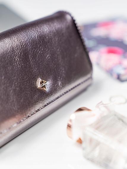Stylowy portfel damski Milano Design srebrny