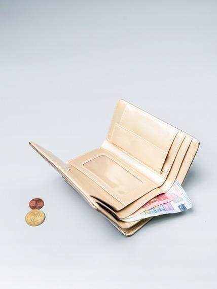 Stylowy portfel damski Milano Design złoty