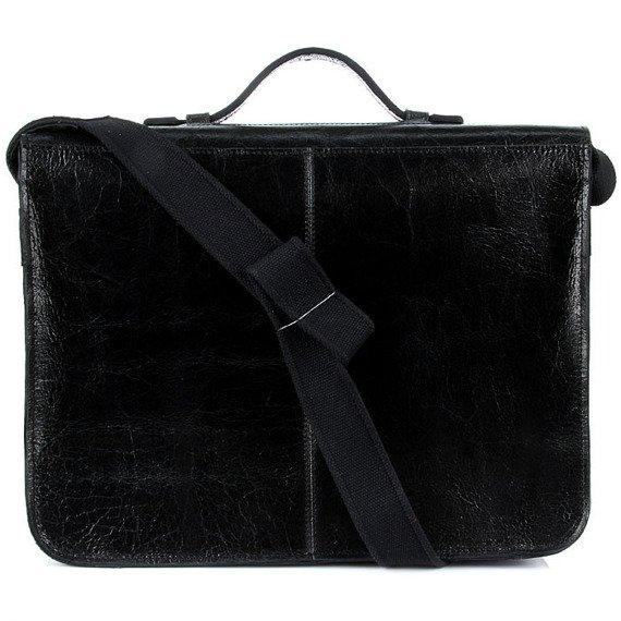 Teczka skórzana unisex na laptopa DAAG Jazzy Wanted 24 czarna