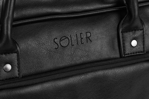 Torba męska na laptopa SOLIER S19 czarna