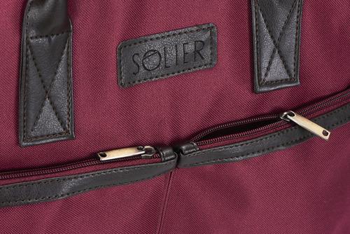 Torba męska na laptopa bordowa SOLIER S23