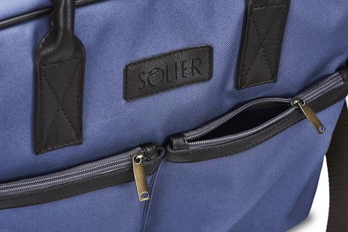 Torba męska na laptopa niebieska SOLIER S23