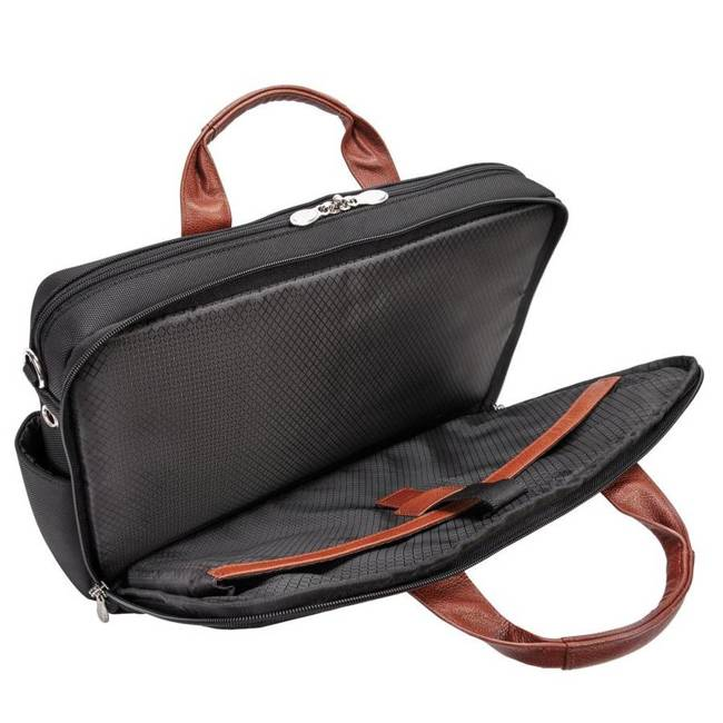 """Torba na laptopa 17"""" z nylonu balistycznego McKlein Southport czarna"""