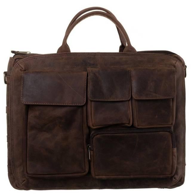Torba na laptopa brązowa Badura LAP-31701-TGH-NL BRO