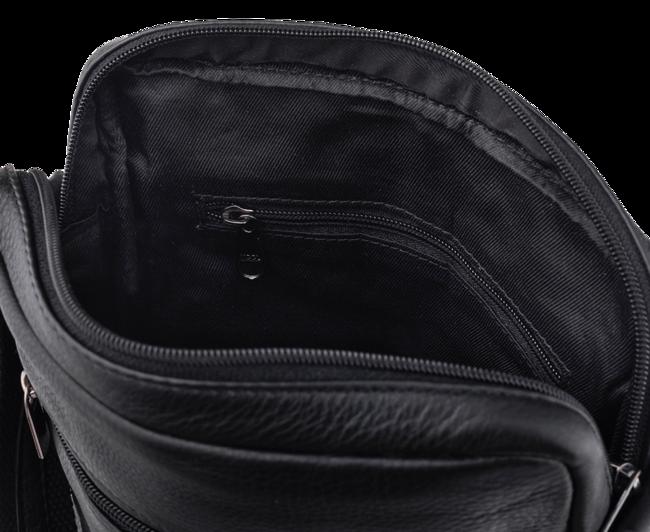 Torba na ramię skórzana Pierre Andreus 772-NDM czarna