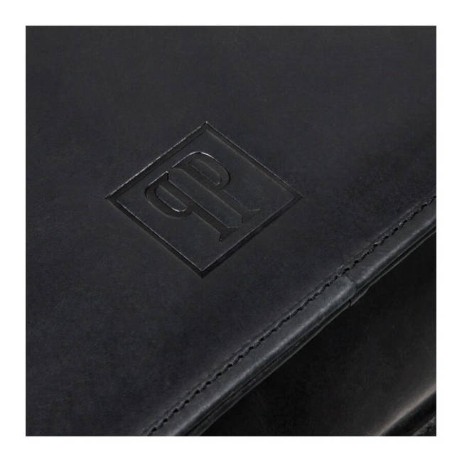 Torba skórzana na laptopa czarna Paolo Peruzzi T-06