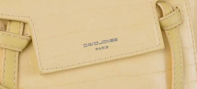 Torebka damska David Jones CM5639 YELLOW żółta