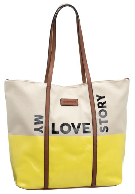 Torebka damska duży shopper bag Monnari 1740 żółta