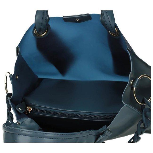 Torebka damska shopper niebieska NOBO NBAG-I2930-C012