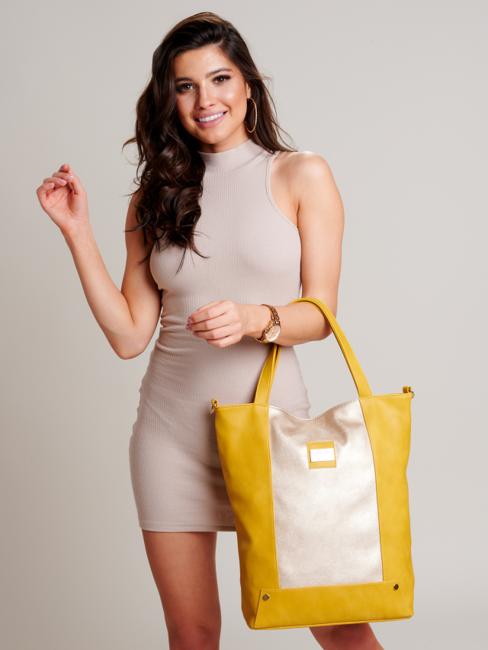 Torebka damska shopper żółty Badura T_D019MS_CD