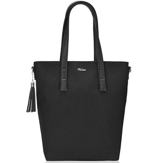 Torebka damska worek shopper MILTON ML02 czarna