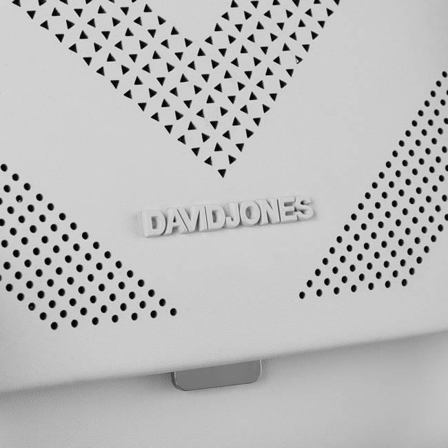 Torebka listonoszka biel David Jones 6281-1