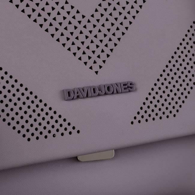 Torebka listonoszka fioletowa David Jones 6281-1