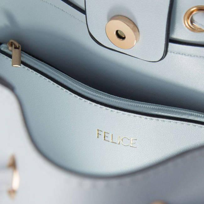 Torebka shopper Felice FB40 jasna niebieska
