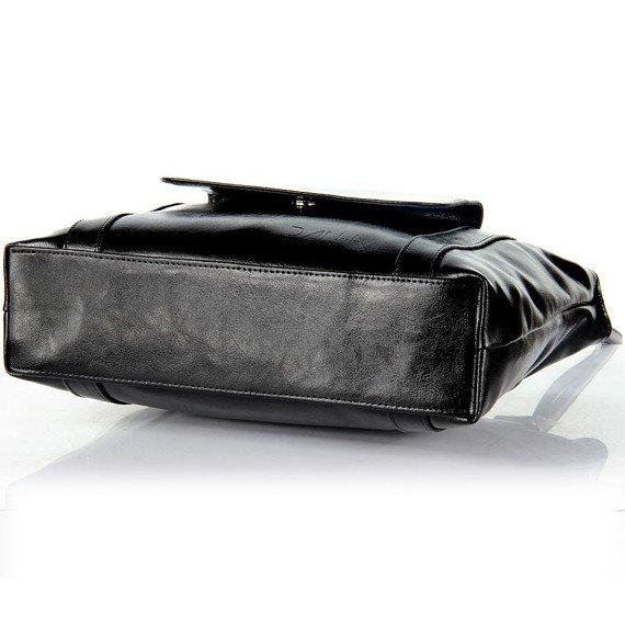 Torebka skórzana DAN-A T265 czarna