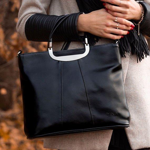 Torebka skórzana damska elegancka DAN-A T280 czarna
