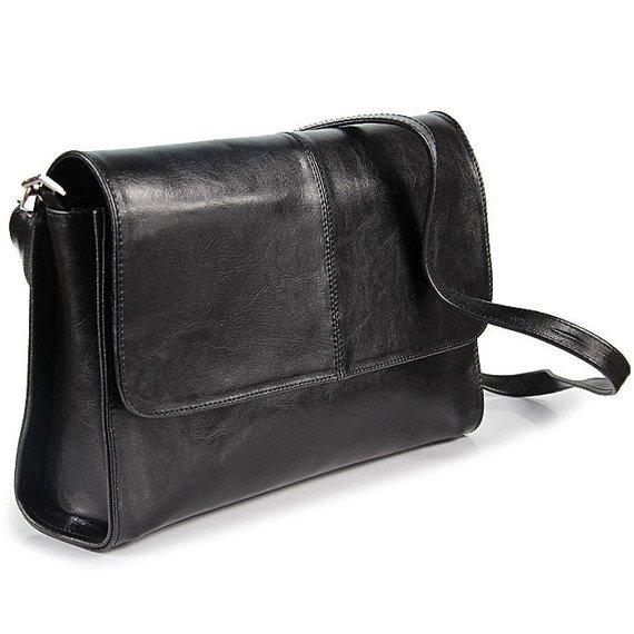 Torebka skórzana damska kopertówka DAN-A T206 czarna