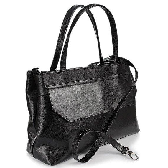 Torebka skórzana damska kuferek DAN-A T146 czarna