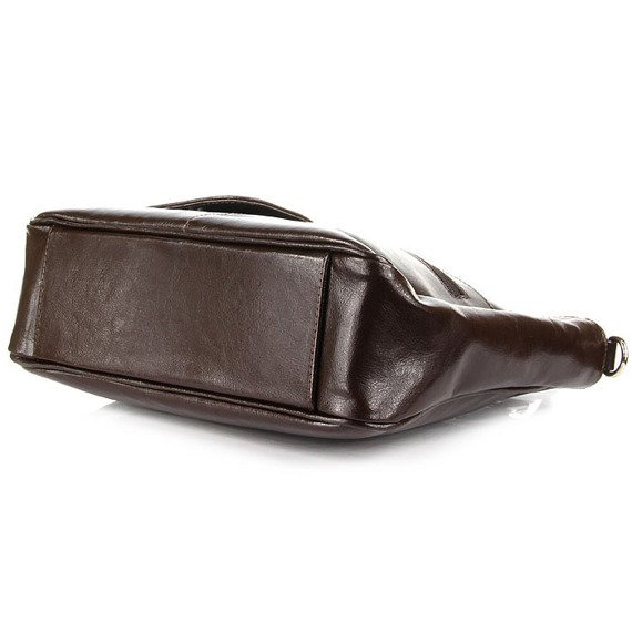 Torebka skórzana damska kuferek DAN-A T88 czekoladowa