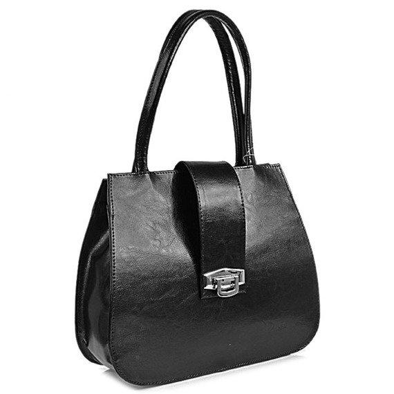 Torebka skórzana elegancki kuferek DAN-A T240 czarna