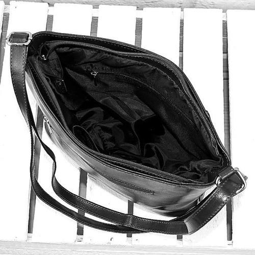 Torebka skórzana listonoszka DAN-A T333 czarny