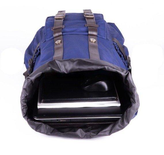 Wodoodporny plecak męski SOLIER SV01 granatowy