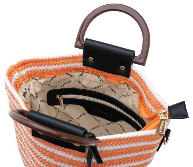 Worek pleciony koszyk Monnari pomarańczowy