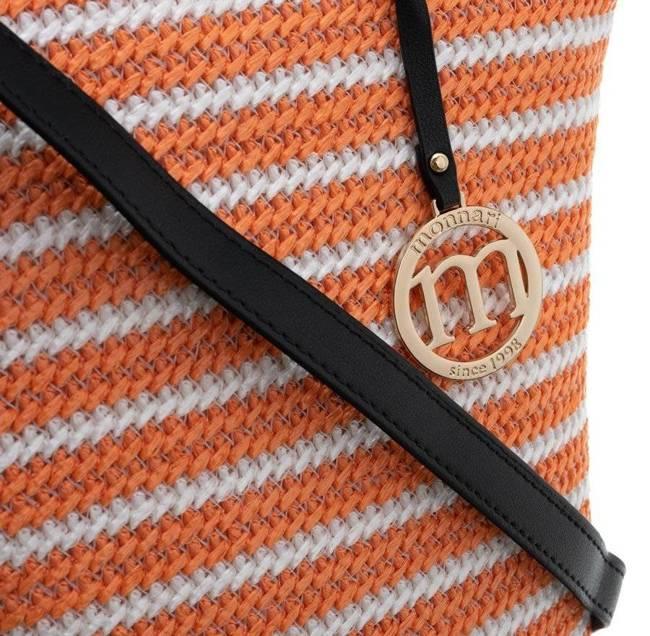Worek pleciony koszyk Monnari pomarańczowy BAG1900-003