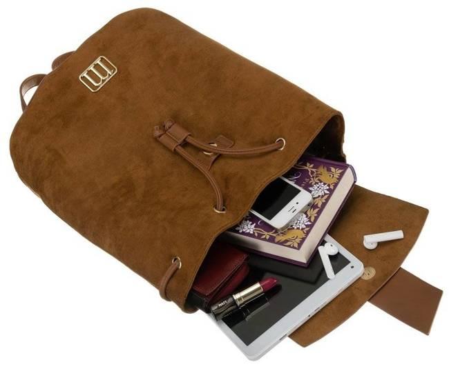 Zamszowy plecak brązowy Monnari BAG2260-017