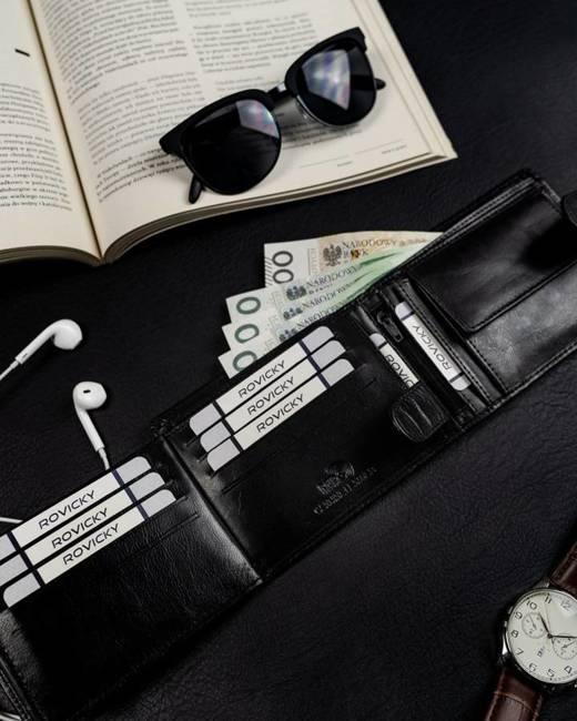 Zestaw portfel i pasek Rovicky R-N992L-110-T-5881 B