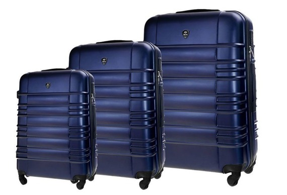 Zestaw walizek podróżnych STL838 granatowy