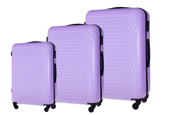 Zestaw walizek podróżnych STL870 fioletowy