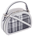 Listonoszka damska kuferek David Jones srebrna CM5692