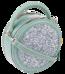 Okrągła listonoszka z brokatem David Jones miętowa 6225-1