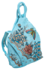 Plecak damski skórzany ręcznie malowany w kwiaty